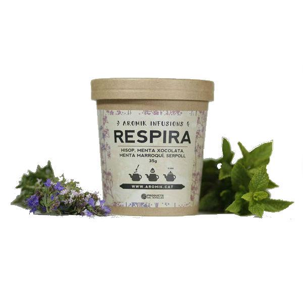 Infusió Respira  35 gr de planta seca (Hisop, menta i serpoll)